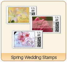 spring wedding stamps