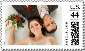 custom wedding photo stamps