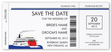 Riverboat Wedding Save the Date Cards invitation