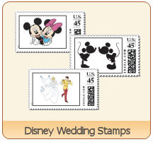 Disney wedding stamps
