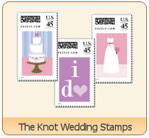the knot wedding stamps