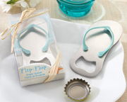 beach wedding favors flip flop bottle opener