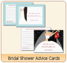 bridal shower bride to be advice cards by PM Custom Weddings